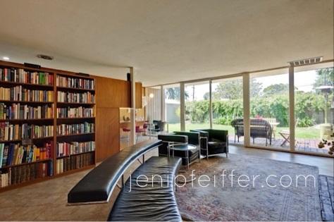 Eichler Living Room Beautiful View of Garden_Courtesy Jeni Pfeiffer