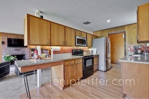Eichler Kitchen with Gorgeous Red Glass Tile Backsplash_Courtesy Jeni Pfeiffer